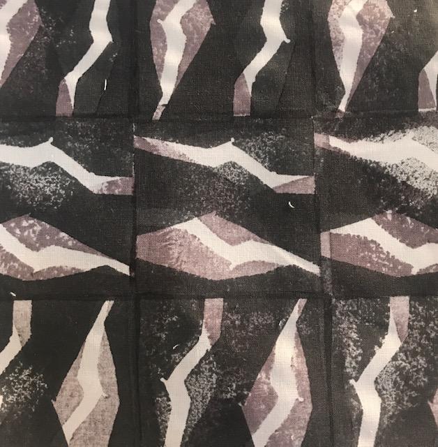 Textilt mönster, framtaget av elev