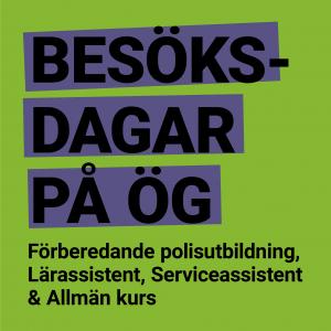 Besöksdagar läsåret  2019, Allmän Kurs & Lärarassistentutbildningen