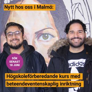 Östra Grevie folkhögskola i Malmö startar högskoleförberedande kurs med beteendevetenskaplig inriktning