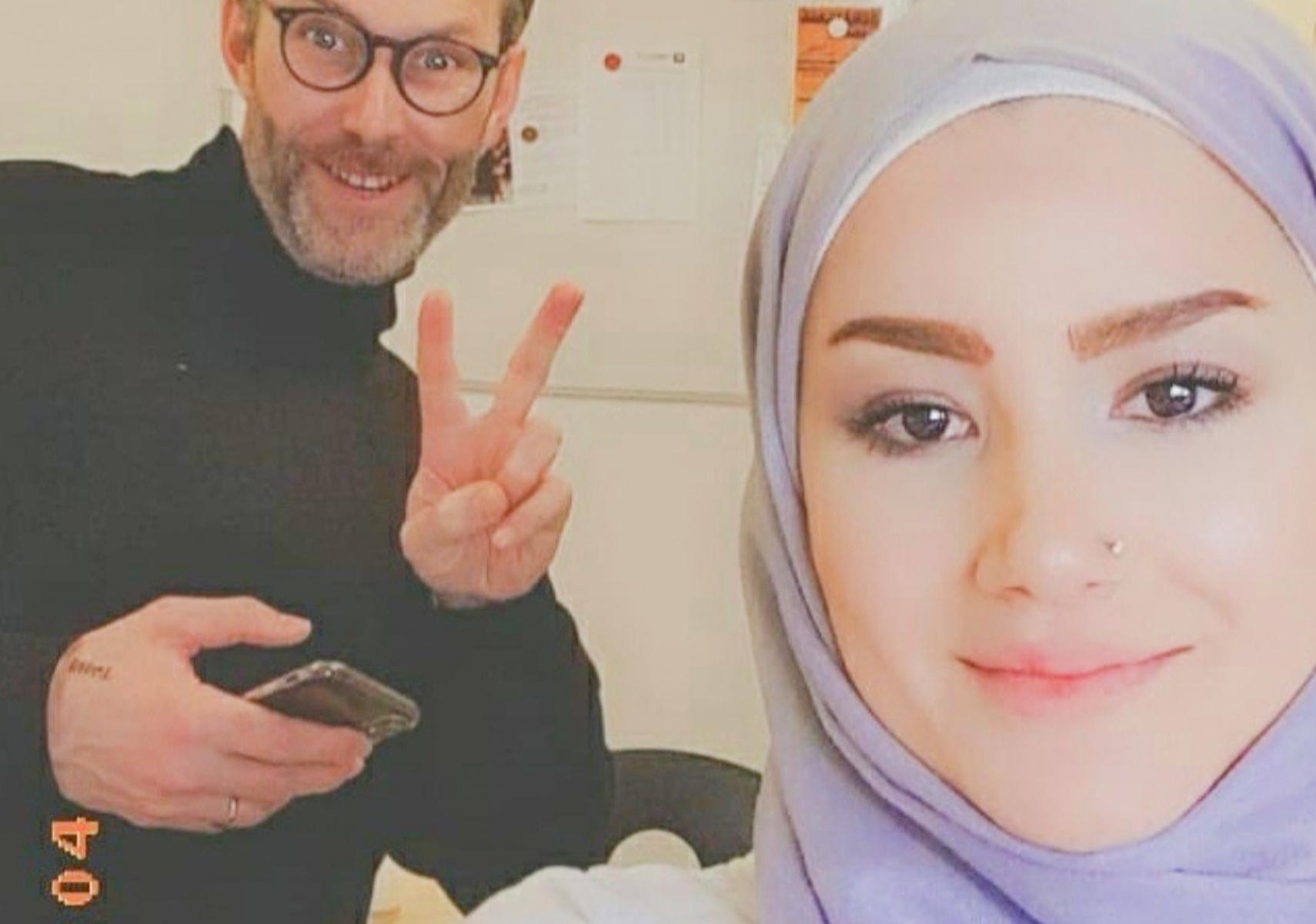 Selfie på lärare och Anwar