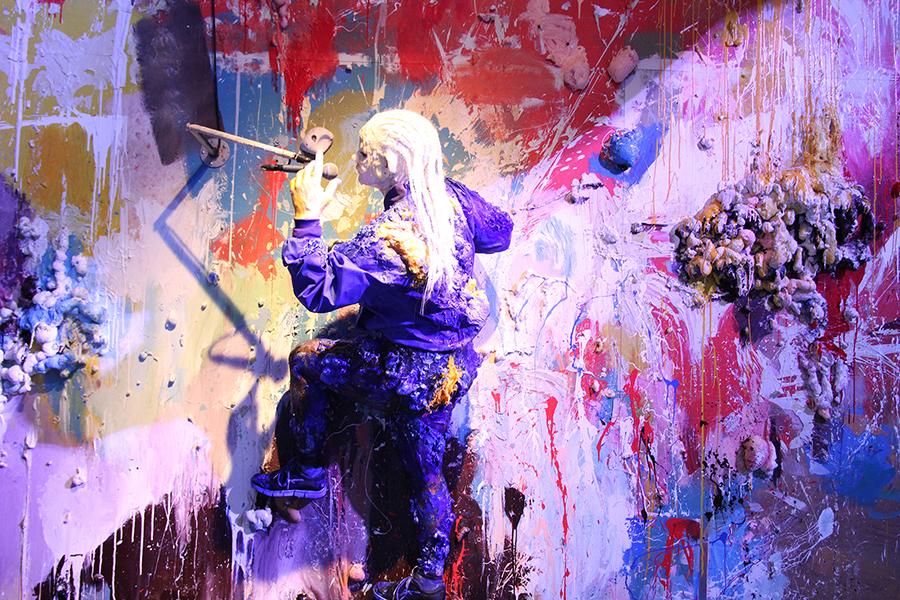 Bild på performance – Grafittivägg